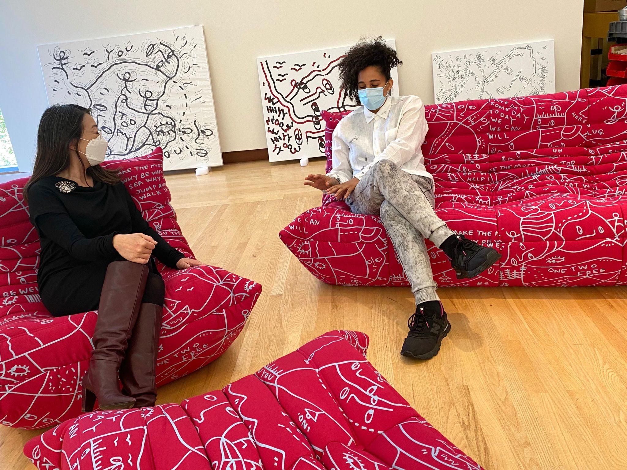 Pictured: Shantell Martin with NBMAA Director & CEO Min Jung Kim