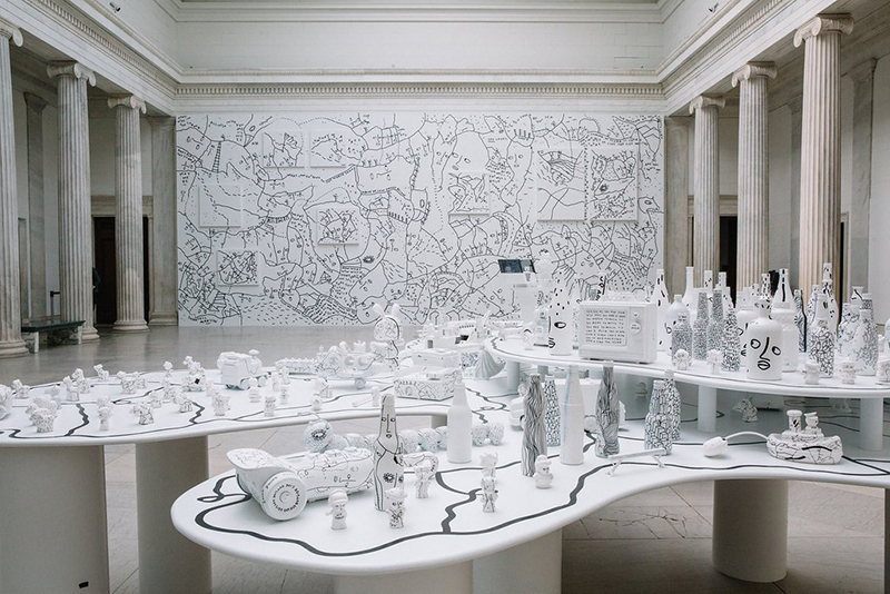 Installation view of Shantell Martin: Someday We Can, Albright-Knox Art Gallery, 2017, Photo: Connie Tsang