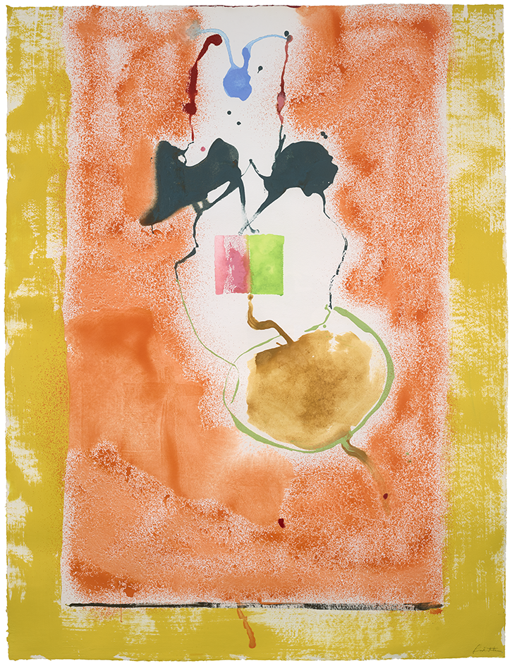 Helen Frankenthaler, <i>Solar Imp</i>, Acrylic on paper, 78 x 59 3/4 in., © 2019 Helen Frankenthaler Foundation, Inc./ Artists Rights Society (ARS), New York