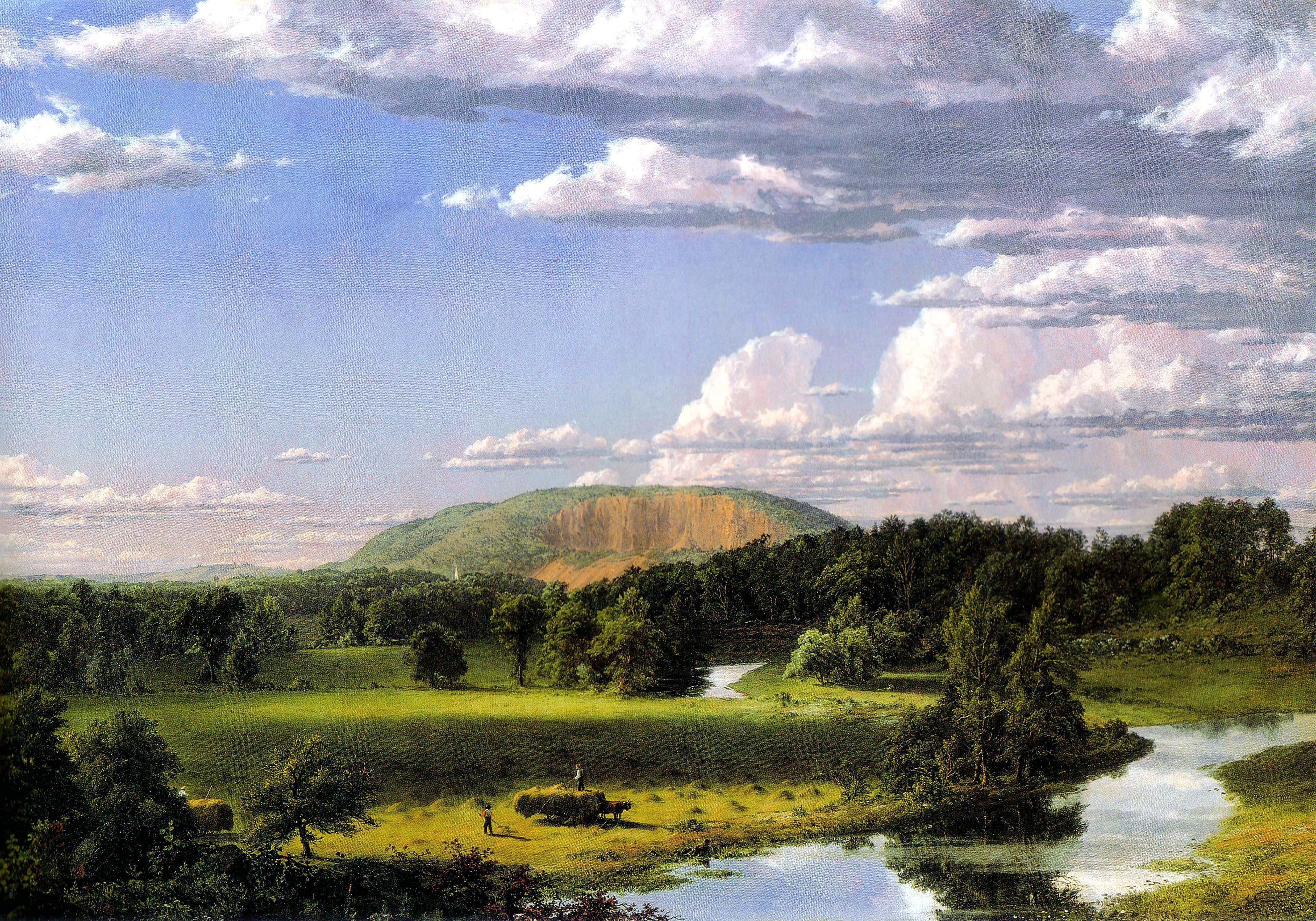 "Frederic Edwin Church, ""West Rock, New Haven,"" ca. 1849, Oil on canvas, 27 1/8 x 40 1/8 in., John Butler Talcott Fund"