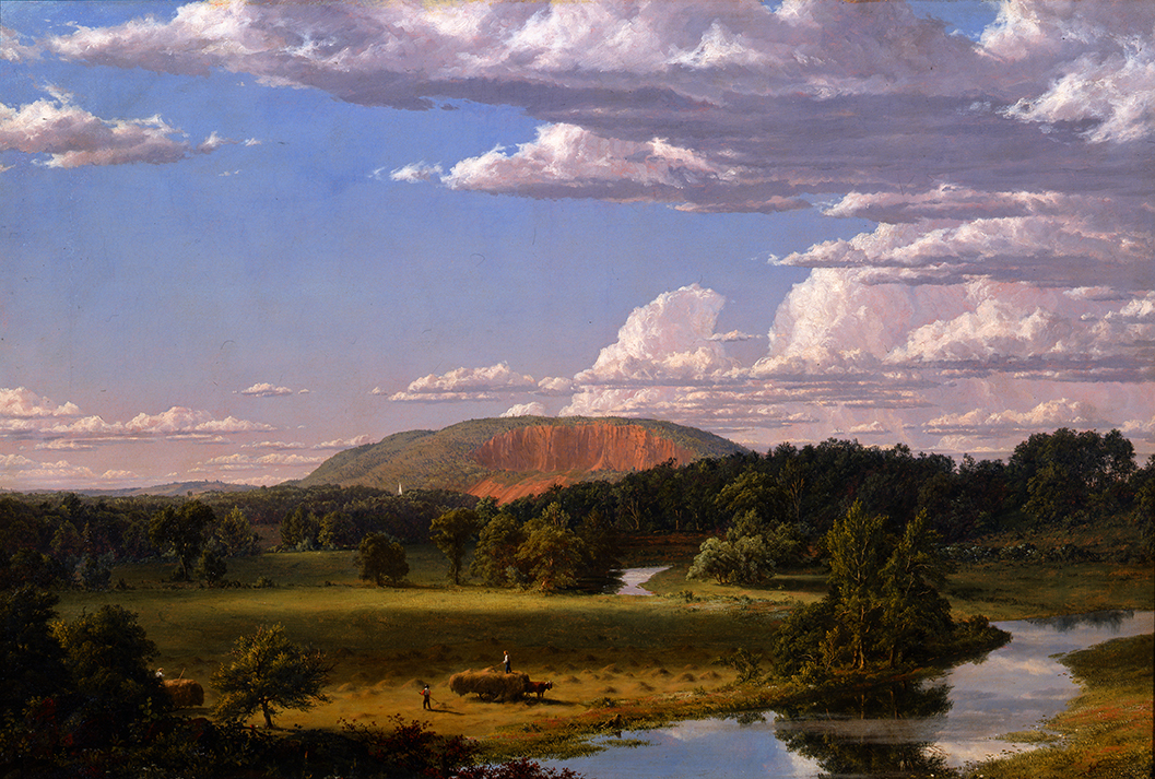 "Frederic Edwin Church, ""West Rock, New Haven,"" 1849, Oil on canvas, 27 1/8 x 40 1/8 in., John Butler Talcott Fund"
