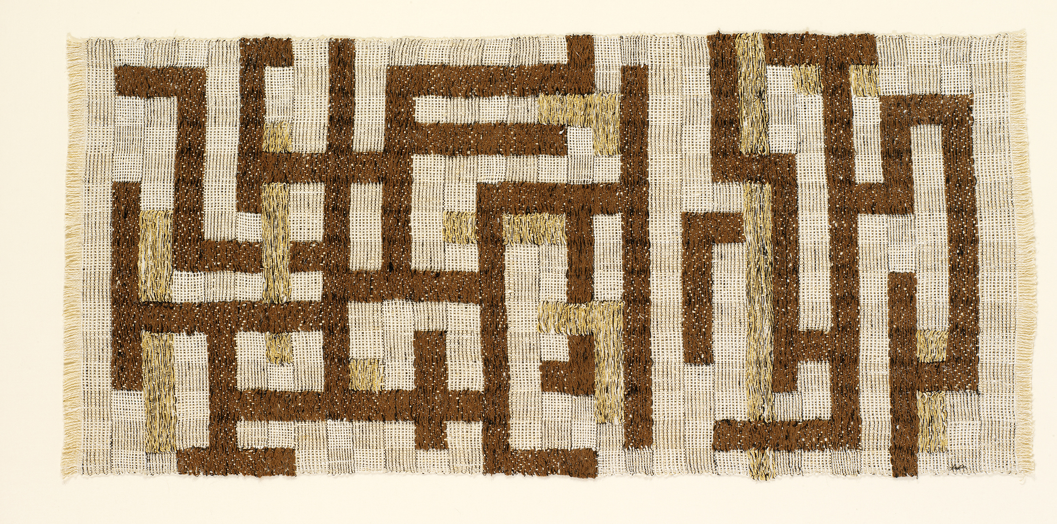 "Anni Albers, ""Two,"" 1952, Linen, cotton, rayon, 19 x 40 in., © The Josef and Anni Albers Foundation / Artists Rights Society (ARS), New York 2019"