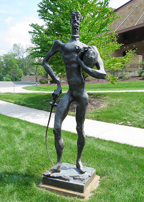 "Nathaniel Kaz, ""Don Quixote,""ca. 1941, Bronze, Gift of Rolf Liebergesell, New Britain Museum of American Art"