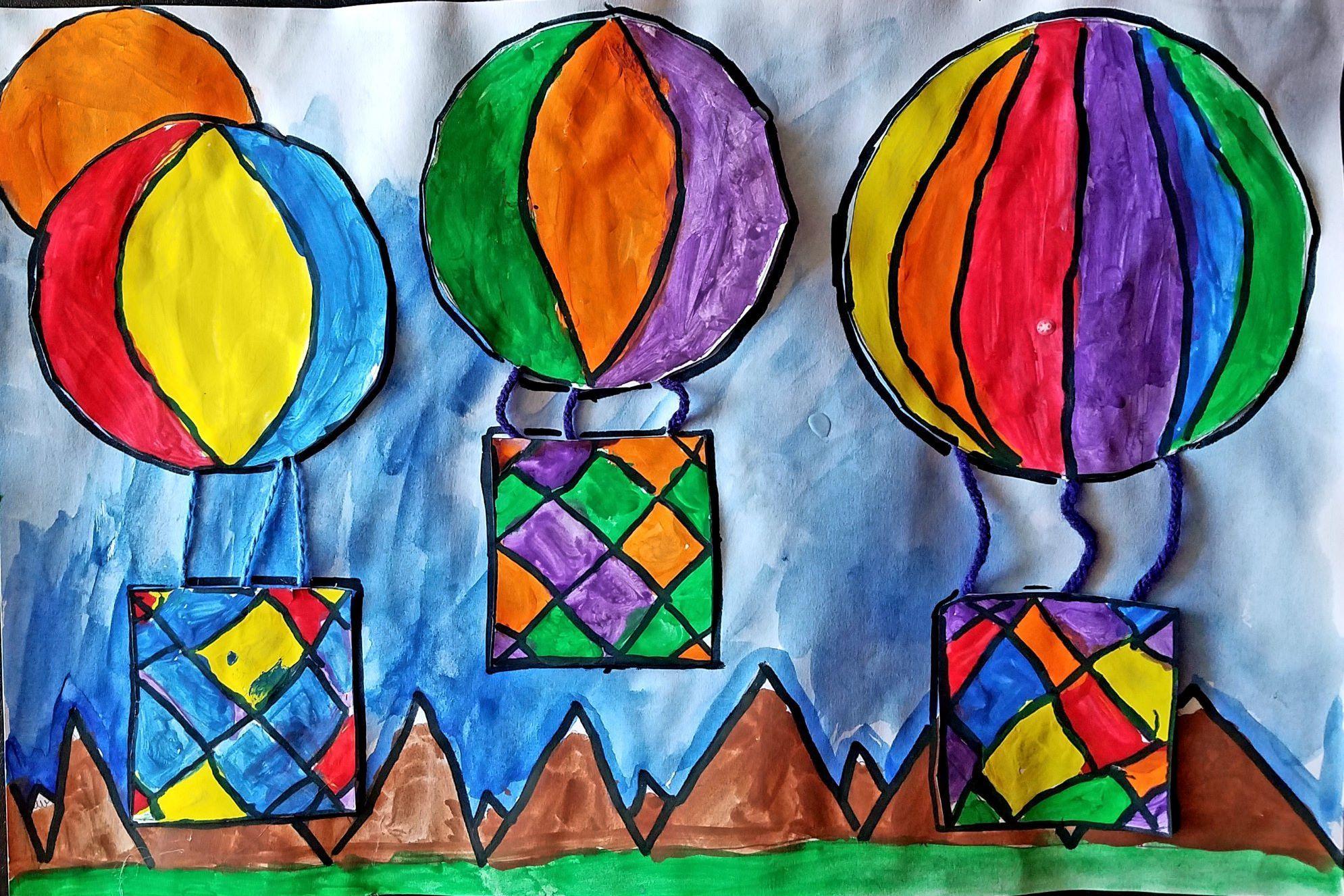 Olivia Z, Jefferson Elementary School, Grade 1, Tempera Paint, Marker, and Yarn, Kim Gremillion