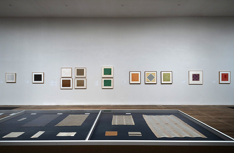 """Installation view of Anni Albers at Tate Modern,"" 2018, Image Courtesy of the Josef and Anni Albers Foundation"