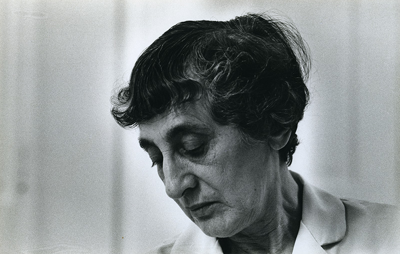 Anni Albers, Photo: John Hill, ca. 1970, Image Courtesy of the Josef and Anni Albers Foundation