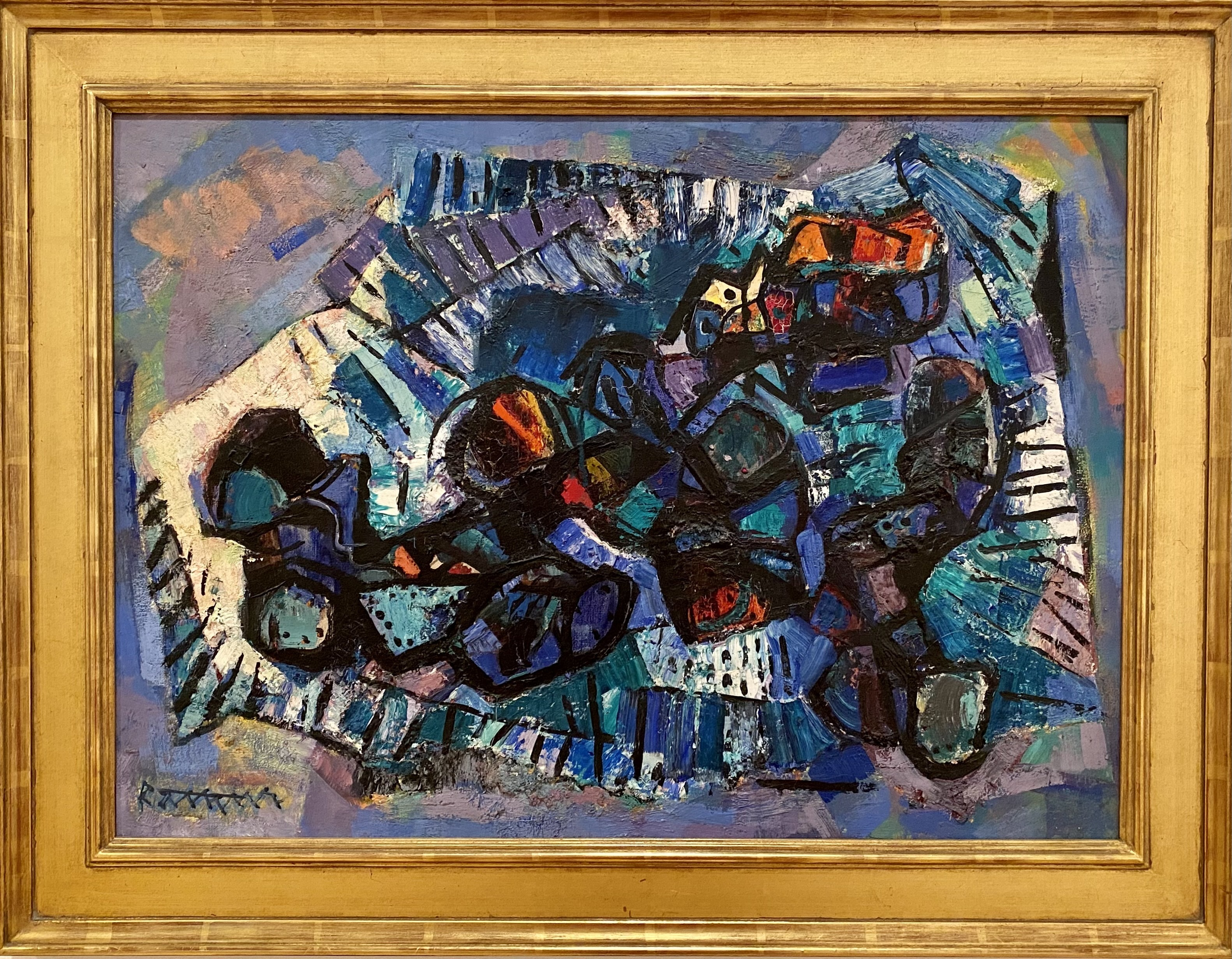 Abaham Rattner, <i> Old Shoe Arrangement No. IV </i>, 1951, Oil on canvas, Gift of Sandra and Howard Fromson