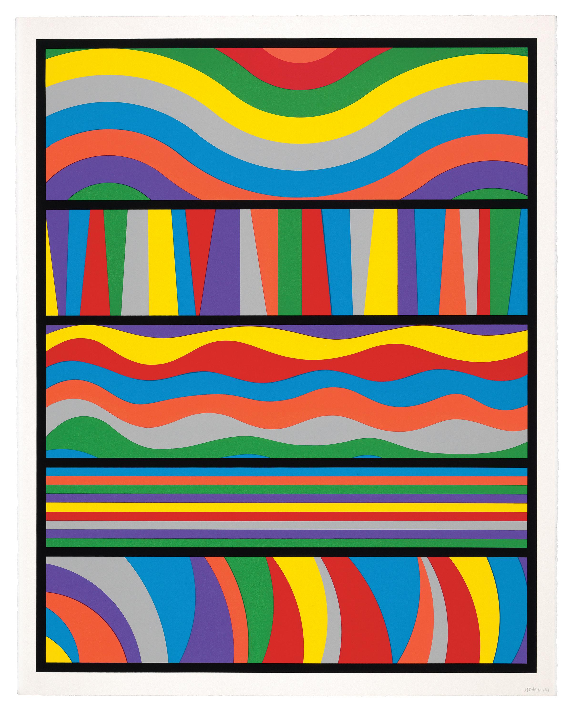 Sol LeWitt, <i>Lincoln Center Print </i>, 1998, Silkscreen, 35 1/2 x 28 in., LeWitt Collection