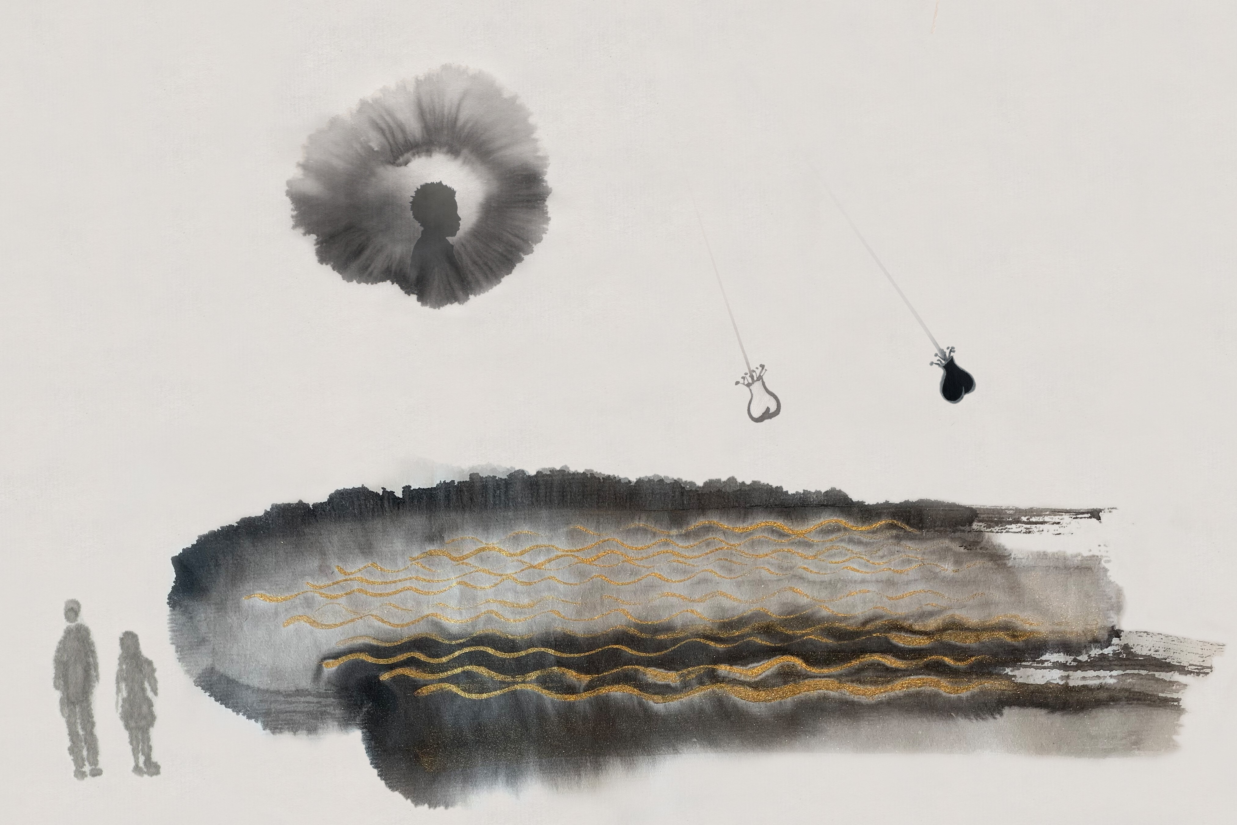 Jennifer Wen Ma, Rendering of <i>An Inner Sea</i>, 2020