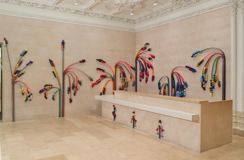 Eva LeWitt, <i>Untitled (Flora)</i>, 2018, Installation view: The Jewish Museum, New York, 2018-2019., Courtesy of The Jewish Museum, New York and VI, VII, Oslo. Photograph by Jason Mandella